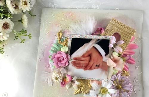 スプリングピンク:母の日プレゼントにフォトフレーム写真加工付き
