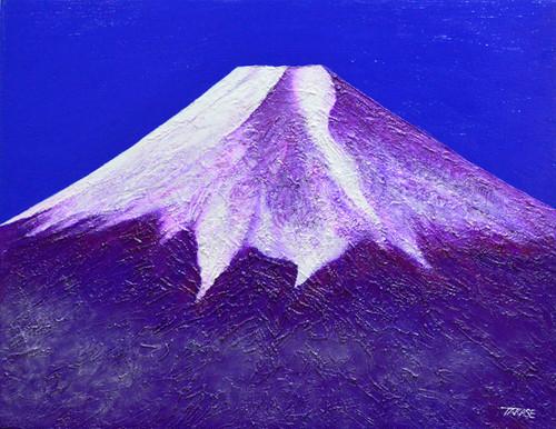 高瀬忠一「赤富士」油彩画 P10号