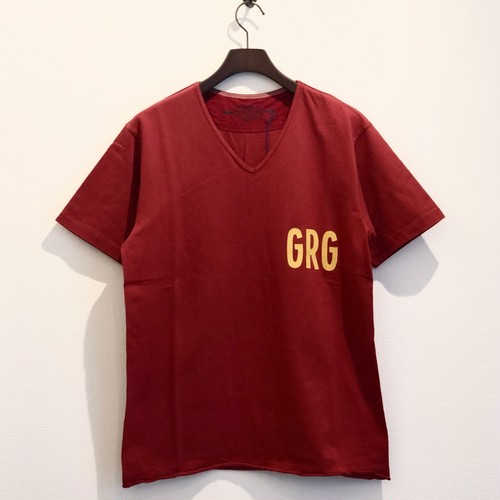 HEAVEY DUTY V-NECK T-S (RED) / GERUGA