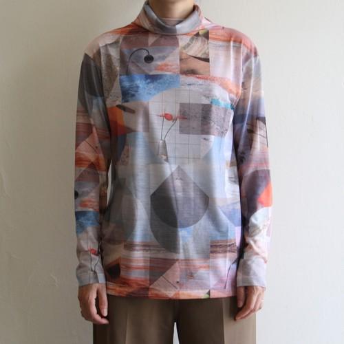 PHEENY 【 womens 】print drape neck