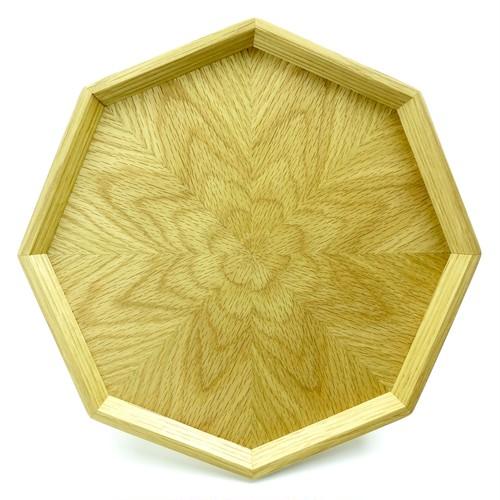 ナラ 八角形のトレー  OBNA-0161