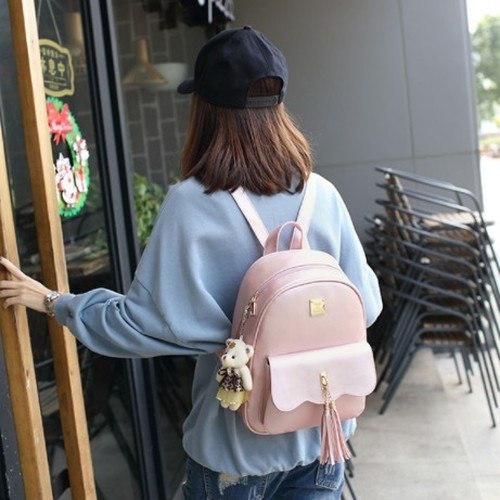 【新作10%off】tassel design PU back pack 2940