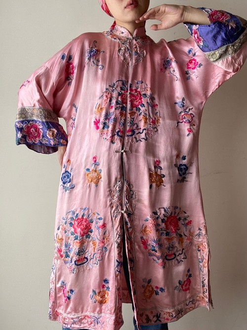 1930-40s Vintage China Gown