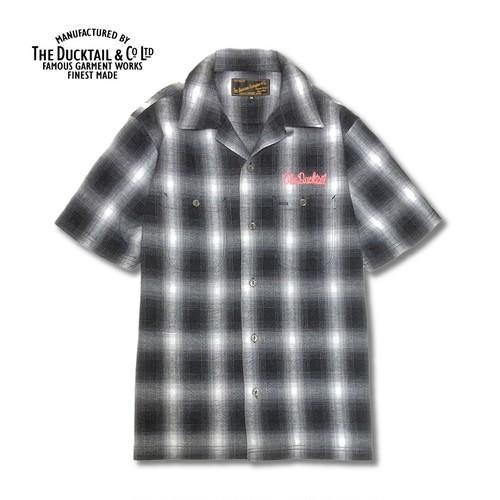 "DUCKTAIL CLOTHING ""RISE AGAIN"" WHITE ダックテイル クロージング 半袖 チェックシャツ"