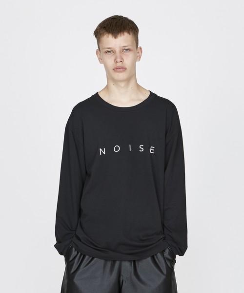 ロゴプリントBIGロングスリーブTシャツ(ブラック)