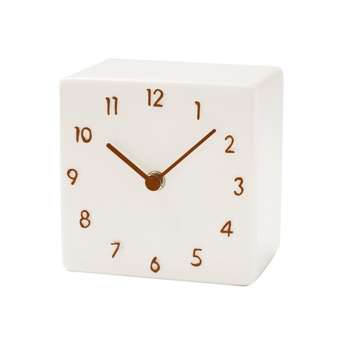 CERAMIC DESK CLOCK【BROWN】