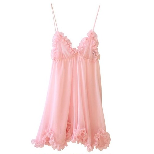 VOGUE 掲載♡ FRILLED EDGING BABY DOLL / PALE PINK
