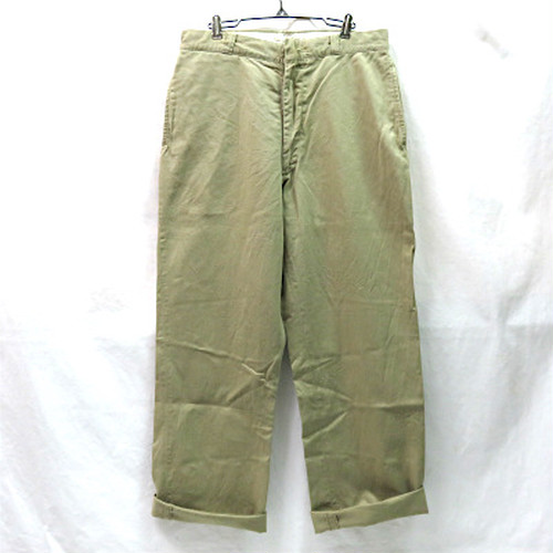 60's U.S.ARMY BACK FLAP CHINO TROUSERS (USアーミーフラップ付きチノパンツ)