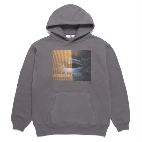 "Genya Sato × Rueed ""Trip Exhibition 2020"" HOODED SWEAT SHIRT / CHARCOAL"