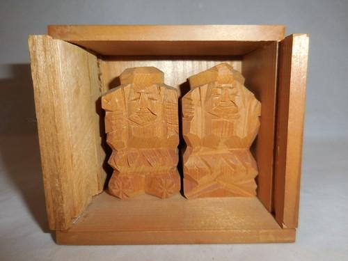 一刀彫恵比寿&大黒 wooden Ebisu & Daikoku(No10)