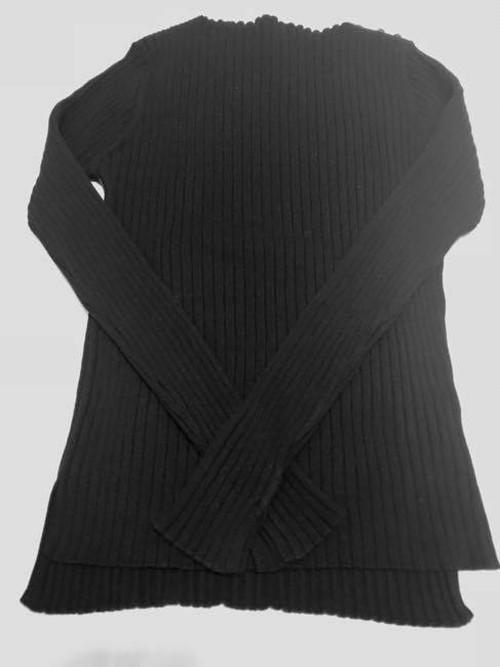 コットンカシミアセーター   ALDRIDGE ✕blendo アルドリッジ×ブレンドオ コラボ     クロ