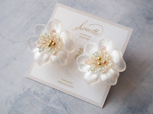 pearl flower ピアス/イヤリング