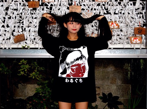 わるぐちTシャツ黒