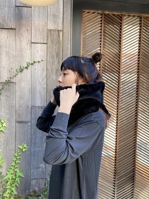 【20AW】OOF オーフ / Collar 3020 in black faux fur