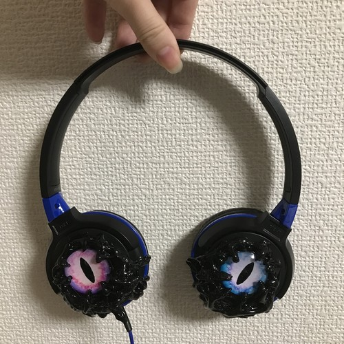 Odd-eye headphone audio-technica custom