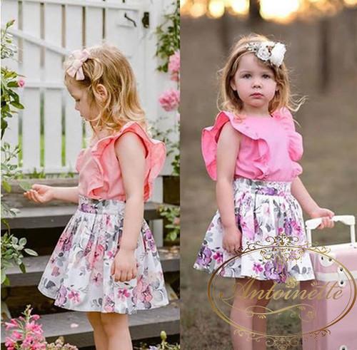 kids 子供 ワンピ セットアップ ワンピース ピンク かわいい りぼん 女の子 子供服 こども