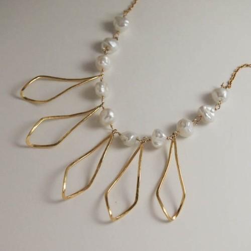 long leaf necklace gd【FN202】