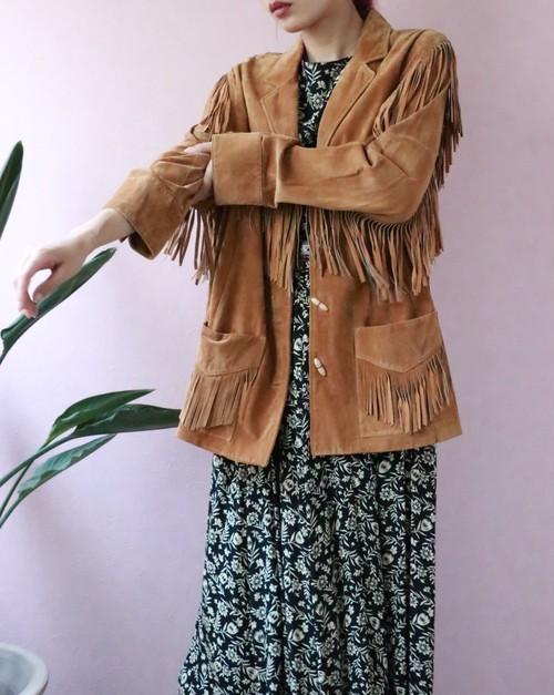 Ralph Lauren suede fringe jacket