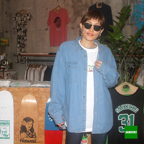 SAIKICKS S HANG LOOSE DENIM SHIRT