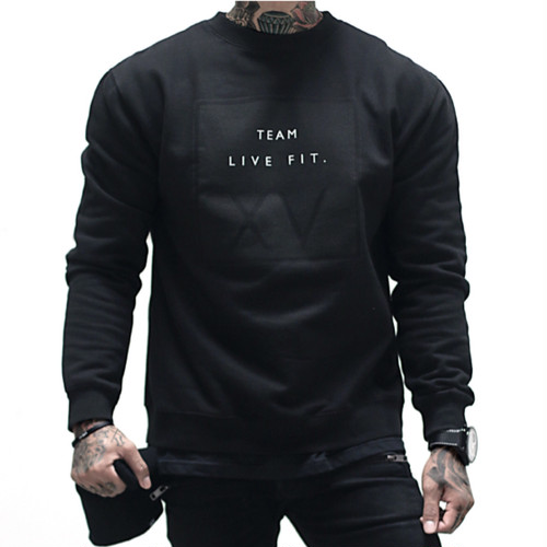 LIVE FIT XV Crewneck - Black