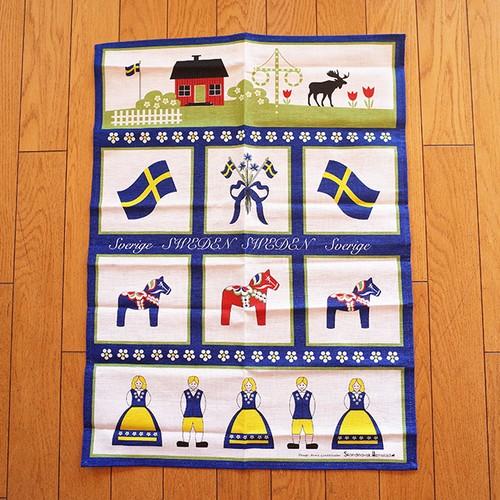 【スウェーデン】 Skandinavisk Hemslojd スカンジナビスク ヘムスロイド キッチンタオル (スウェーデンノスタルジー)