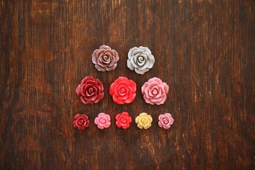 【小】プラスチック小薔薇5ヶ入り