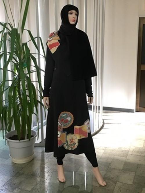 留袖ロングワンピース&ヒジャブ  Dress&Hijab