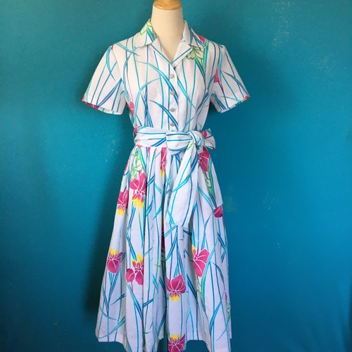 Cotton kimono dress/ US 8/浴衣
