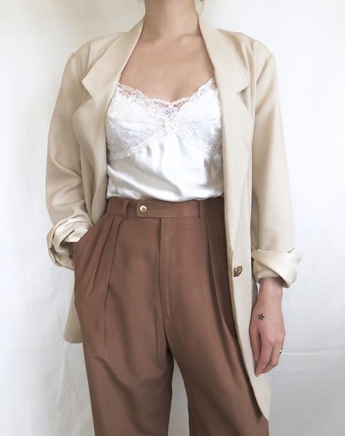 vintage 1button rayon jacket