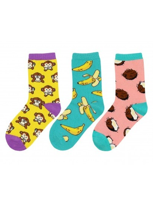 【Kids】Spunky Monkey 3Pack -Sock Smith(ソックスミス)