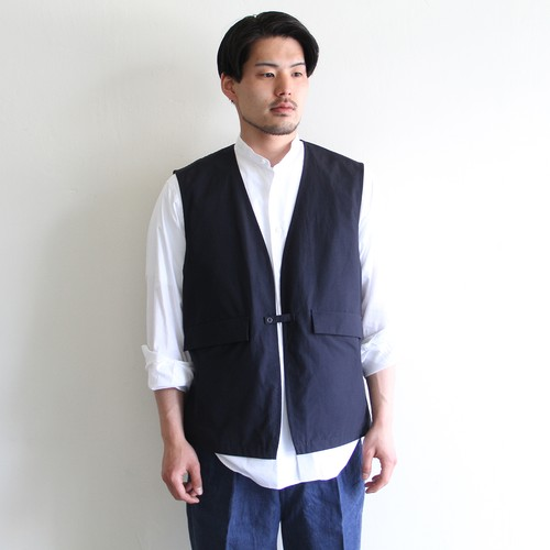 STILL BY HAND【 mens 】cotton nylon vest