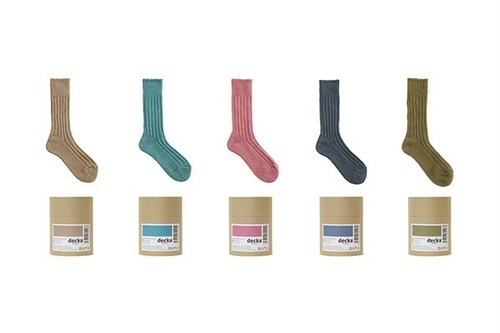 【Men'sSize】decka Cased heavy weight plain socks -3rd collections-