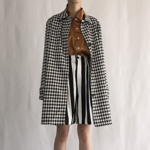 hounds tooth check spring coat