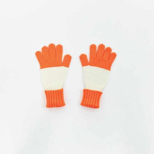 EZ DO by EACHTIME. Border Gloves [Neon Orange]