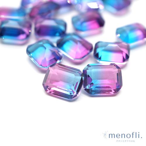 1pc 長方形 グラデーション 青・紫 10*8 チャイナガラス ラインストーン グラスストーン