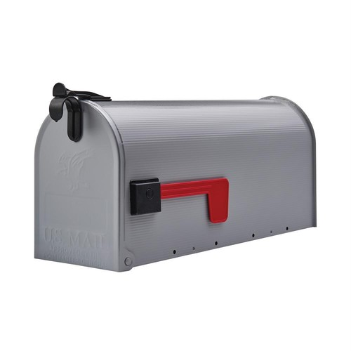 Grayson Gray Steel Medium Post-Mount Mailbox