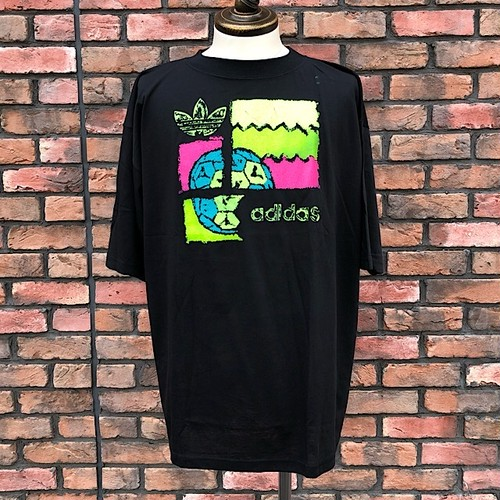 1990s Deadstock Adidas T-Shirt 44/46 Black