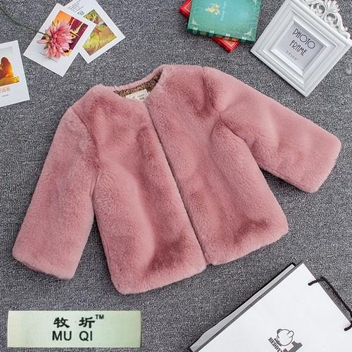 子供 毛皮 模造 ウサギ ファーコート ウール 厚い 暖かい