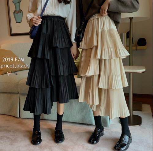 asymmetry frill skirt 2color