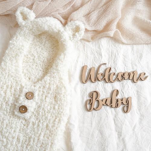 木製/レターバナー Welcome Baby [A-1]