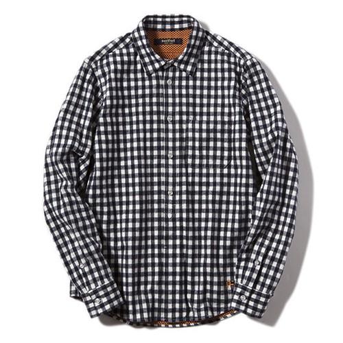 narifuri ギンガムヒートシャツ