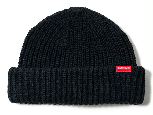 TIGHTBOOTH SHORT WAFFLE BEANIE BLACK  タイトブース KNITCAP ニットキャップ
