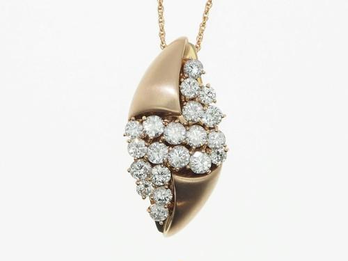 【K18PG】2.00ct UP ダイヤモンドネックレス