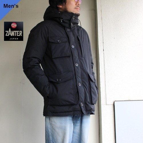 【19-20AW】ZANTER JAPAN DOWN PARKA WP-H (ブラック)