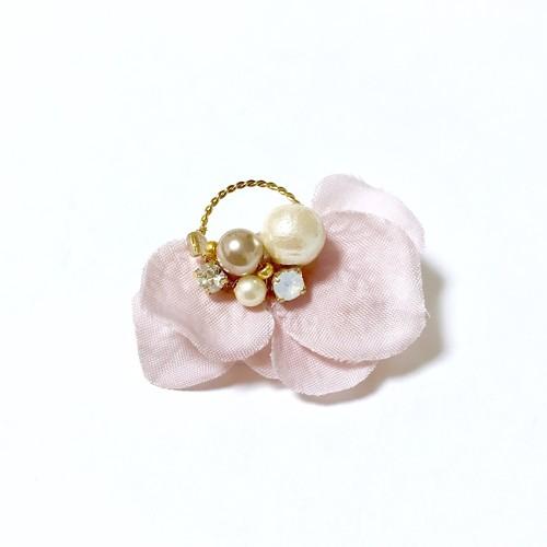 花ミニフープピアス・イヤリング ピンク