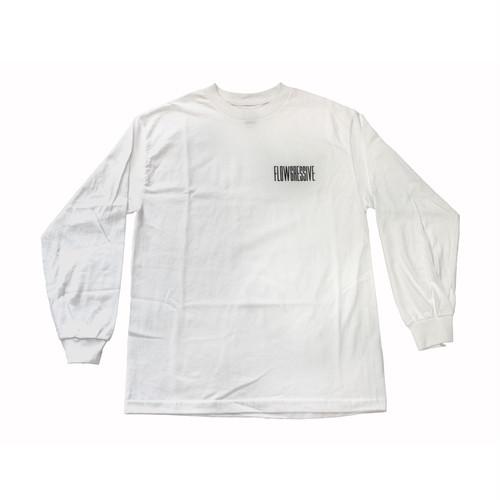FLOWGRESSIVE LOGO L/S TEE WHITE