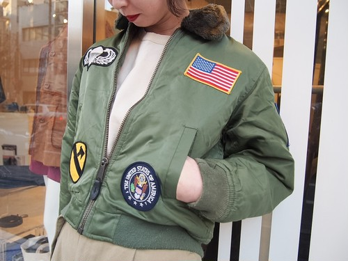 military patchdesigh フライトジャケット