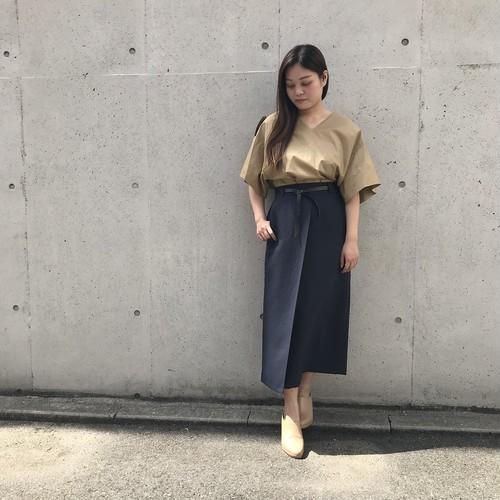 DONEEYU/ラップ風ロングタイトスカート