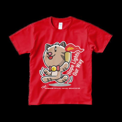 <レッドTシャツ 正面>聖火みーちゃん