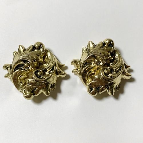 Vintage Whiting & Davis Leaf Earrings